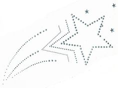 Star Template | Hot Fix Transfer - Shooting Star, 12 x 4.5 inches