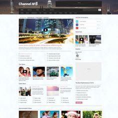 TV Channel Responsive WordPress Template