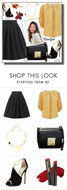 """""""Autumn magic 16"""" by ramiza-rotic ❤ liked on Polyvore featuring Jimmy Choo, vintage, pretty, skirt and rosegal"""
