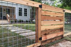 Easy DIY Hog wire fence Cost for Raised Beds How To Build A Hog wire fence Ideas Metal Vines Hog wire fence Dogs Hog wire fence Gate Railing Modern Hog wire fence Plans Garden Design Black Front Yard Hog wire fence Tall Privacy Hog wire fence Deck Instruc Wire Fence Panels, Hog Wire Fence, Farm Fence, Cattle Panel Fence, Welded Wire Fence, Chicken Wire Fence, Hog Panel Fencing, Livestock Fence Panels, Wire And Wood Fence