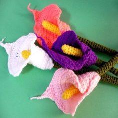 Calla Lily Crochet Pattern Free   Crochet Flower Pattern Calla Lily Pic #18