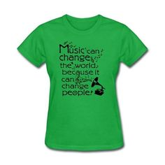 """Inspiring"" Music can change the world quotes Crew-neck Short-Sleeve Women's t shirts"