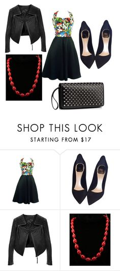 """""""Pin-Up"""" by natalie-lanham ❤ liked on Polyvore featuring moda, Christian Dior, Linea Pelle, Monet, Christian Louboutin, women's clothing, women's fashion, women, female y woman"""