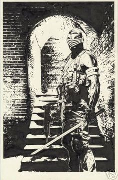"""Snake-Eyes - Tim Bradstreet, i totally want this on a shirt:"""""""""""""""""""")))"""