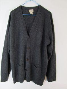 b7fd527be83b LL Bean Men s Cardigan Sweater Big   Tall Size XLTCharcoal Gray Lamb s Wool   LLBean  Cardigan