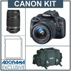 Canon Rebel with lens, lens, SD card & camera bag! Canon Ef Lenses, Latest Camera, Slow Shutter Speed, Optical Image, Multiple Exposure, Dslr Cameras, Color Balance, Canon Eos Rebel