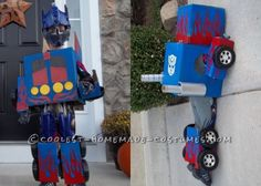 Creative Transformers Costume... This website is the Pinterest of Halloween costumes for kids