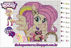 Fluttershy - MLP Equestria Girls pattern by Dinha Ponto Cruz