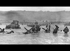 Landing On The Beaches Of Normandy  June 6, 1944  These men are all true heroes!