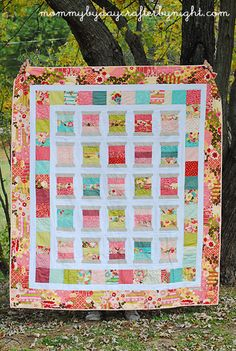 Mommy by day Crafter by night: Scrappy Spools Quilt