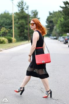 perforated dress - outfit - DoYouSpeakGossip.com