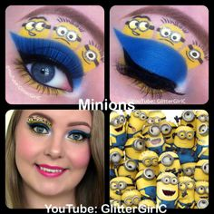 Minions makeup. YouTube channel: https://www.youtube.com/user/GlitterGirlC