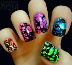 45 Sassy Marble Nail Art Designs for 2016 - Diy Nail Designs Neon Nails, Love Nails, Pretty Nails, How To Do Nails, Galaxy Nails, Nail Art Diy, Cool Nail Art, Diy Nails, Nail Art Designs