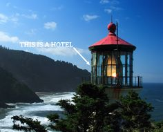 One of these hotels is a helicopter.