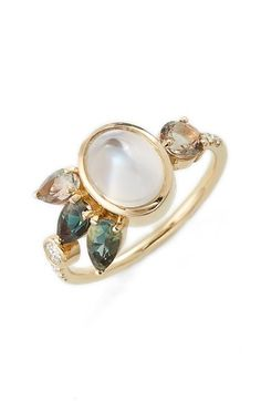 MOCIUN Moonstone Cluster Ring (Nordstrom Exclusive) available at #Nordstrom