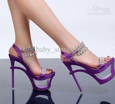 China Mall - buy wholesale HOR SALE-women's diamond sandals inlaid diamond waterproof fish mouth high heels sandal