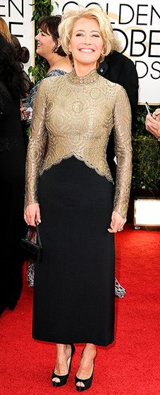Emma Thompson in a Vintage outfit: 2014 Golden Globes