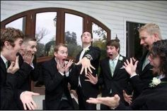 Epic wedding picture idea mocking the girls. Whoever I marry must have a sense of humor.