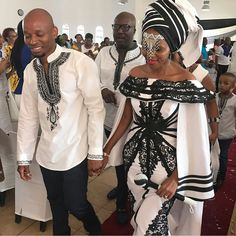 Traditional Xhosa Dresses Wedding 2019 - style you 7 African Wedding Attire, African Attire, African Wear, African Dress, African Women, African Weddings, African Clothes, African Traditional Wedding Dress, Traditional Wedding Attire