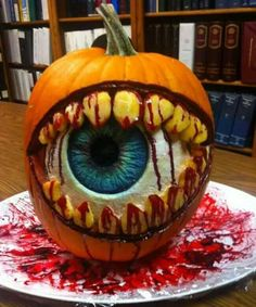 Evil eye pumpkin