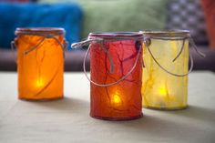 Make these indoor lanterns with tissue paper and decoupage for a happy indoor camping event. Not sure if I need ALL these things, but, I'd be nice to do this! Camping Parties, Camping Games, Camping Theme, Camping Activities, Camping Crafts, Fun Crafts, Crafts For Kids, Camping Ideas, Indoor Activities