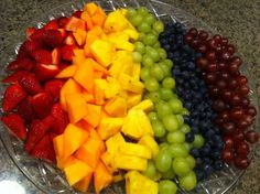 What are you eating for pride? Taste the rainbow! (yep, Mike made this.)