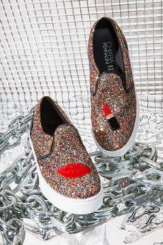 Chiara Ferragni Glitter Lips Slip-On Sneaker