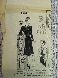 30s 1930s Dress Designer Vintage Sewing by VintageClothingDream, $24.00