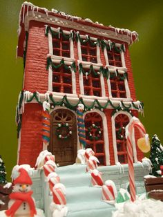 A winning gingerbread house from 2007.
