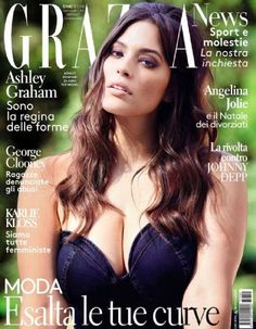 Curvy Models, Role Models, Ashley Graham Instagram, Curvy Celebrities, Celebs, Grazia Magazine, Fashion Cover, Women's Fashion, Older Women Fashion