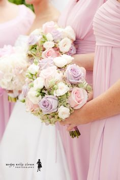 Pastel roses in shades of pink, lavender and white make for some seriously romantic bouquets. Flowers by Botanica Floral & Event Design.