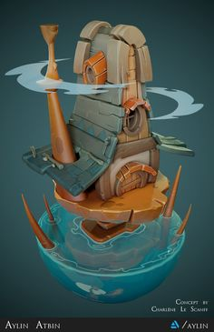 This is my first attempt in doing stylized Artwork. It is based on the wonderful concept of Charlène Le Scanff. It's a game ready Environment Scene mainly made in ZBrush & Substance Painter, rendered in Marmoset Toolbag. Castle Cartoon, Cartoon House, Environment Concept Art, Environment Design, Zbrush, Digital Texture, Isometric Art, Game Props, 3d Artwork