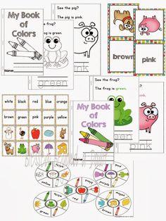 FREE Preschool/Kindergarten Color Recognition Pack and #Giveaway