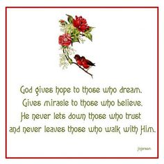 God gives hope