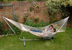 Corda - Double Rope Hammock For more info Visit us:http://www.hamaca.co.uk/ #Hammock #Relaxing #Comfortable #Awesome