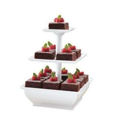 Wilton Snack Server 2 or 3 Tier Square Stand Great for Treats Appetizers cake