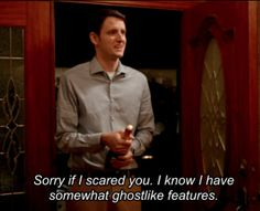 Hot GIF scary ghost nerd silicon valley zach woods jared dunn