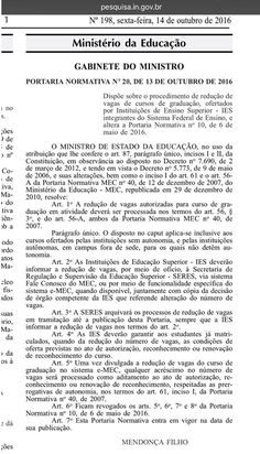 Libertat & Liberdade Educação: MEC reduz vagas nas universidades públicas