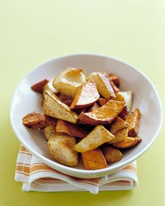 Sweet potatoes and Bartlett pears have a soft, sweet flesh that makes them wonderful for baking.
