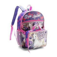 Girls HORSE Backpack~TCP~HORSES~PINK OR Purple~NWT~FREE LUNCH BOX ...