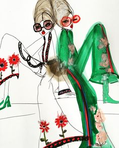 Fashion Illustrations #fashion #illustrations #sketch by Blair Breitenstein