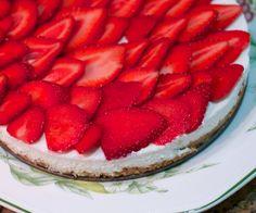 nem og enkel cheesecake, som ikke skal i ovnen.