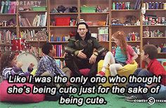 Loki and a group of children have an argument about superheroes in this Comedy Central clip. It's pretty much adorable. | Loki Arguing With Children Is Freaking Adorable