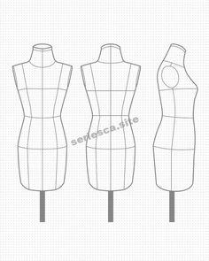 Dress Design Drawing, Dress Design Sketches, Fashion Design Sketchbook, Fashion Design Drawings, Fashion Sketches, Fashion Illustration Poses, Fashion Illustration Template, Fashion Figure Drawing, Fashion Model Drawing