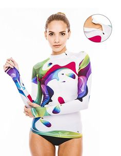 Platinum Sun Womens Long Sleeve Rashguard Swimwear Rash Guard Athletic Tops Rash Guard Swim M