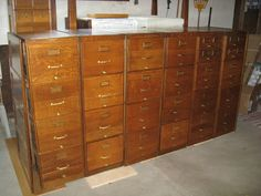 Antique Oak Filing Cabinets by CoombsAntiques on Etsy