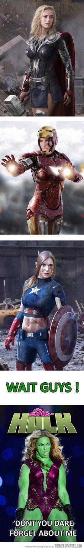 Girls as superheroes…