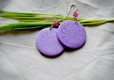 Polymer clay oriental earrings