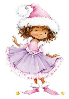 CHRISTMAS LITTLE GIRL CLIP ART