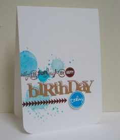 Swanlady Impressions: Happy Splatter Birthday
